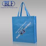 Saco de compra por atacado laminado azul (BLF-NW115)