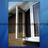 Fixed Simple Iron Window Grill Design / Aluminum Casement Window