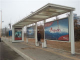 Steel di acciaio inossidabile Bus Shelter per Adv (HS-BS-E029)
