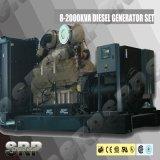 Dieselgenerator-Set DieselGernerating Set angeschalten von Cummins Sdg40dce