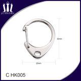 Crochet en alliage de zinc du ressort C en métal pour le trousseau de clés
