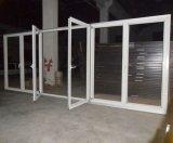 дверь складчатости термально пролома 60series алюминиевая с внутренне шторками или штарками