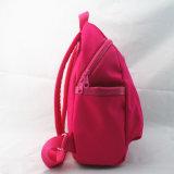 女の子のローズの赤く小さいバックパック
