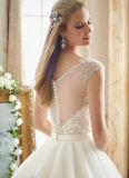 0026 A - la ligne train Tulle de chapelle de mode de chemise de chapeau Appliques des robes de mariage