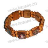 Epoxidheilig-Bild-hölzernes Rosenbeet-Armband