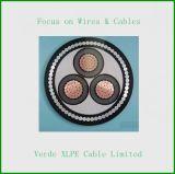 cable eléctrico del alambre de cobre XLPE del conductor 3core