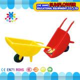 Brouette simple en plastique d'enfants de jardin d'enfants de jouets d'enfants de camion à benne basculante de roue de jeu d'amusement de jardin (XYH-12083-7)