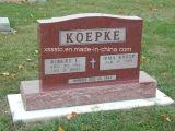 競争価格の米国式の赤い花こう岩の墓石