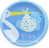 Placas de cena de papel para la ducha de bebé