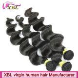 Nenhum cabelo preto natural do cabelo peruano do Virgin do processo químico