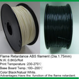 3D Printer Printing Plastic Flame - vertrager ABS Filament