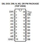 Circuito integrado Sn74lvc245adbr do CI do transceptor do barramento