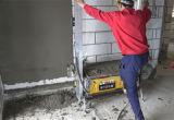 Rendu de mur de machine de jet de construction de bâtiments plâtrant la machine