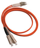 Het duplex Multimode Oranje Koord van het Flard van de Vezel van de Kleur Optische