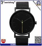 Visualización famosa Montre Reloj Relogio Masculino de la fecha del reloj del oro del reloj del cuarzo de la marca de fábrica del reloj ocasional de la manera de los hombres Yxl-916