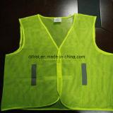 Maglia di base di colore giallo 100%Polyester di influenza della maglia di sicurezza