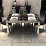 Vector popular y silla de las piernas superiores de mármol modernas del metal del comedor
