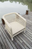 Outdoor Round Wicker Single Arm Chairs