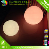 Bola ligera iluminada plástico grande al aire libre impermeable recargable del LED