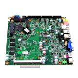 J1800 소형 Itx Mainboard 의 내장된 24bit Lvds 의 소형 경량 클라이언트, 차 PC를 위한 DC 6V-36V 널을%s 가진 소형 PC 직렬 포트 어미판
