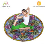 Abitudine dell'ammortizzatore di meditazione stampata intorno alla stuoia di yoga