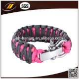 Hotsale Plastic Buckle Paracord Bracelet mit Logo Engraved (HJ-7011)