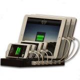 Estação portuária rapidamente cobrando do carregador do USB multi 7 para o iPad