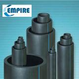 Conduite d'eau en plastique bleue noire de HDPE