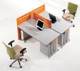 Sitio de trabajo modular linear del divisor de madera de 4 asientos (SZ-WST658)