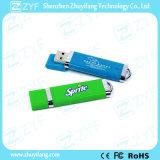 Vara popular do USB do plástico 8GB do projeto conciso relativo à promoção do presente (ZYF1842)