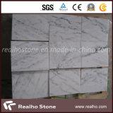 Telha de mármore branca chinesa barata de Guangxi para o assoalho e a parede