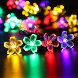 Luz ligera solar del día de fiesta de la cadena de la flor LED del melocotón con 20/30/50 LED