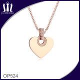Nueva joyería del colgante de la forma del corazón del acero inoxidable del diseño 316L