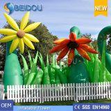 直接工場イベントは結婚披露宴の装飾LEDの膨脹可能な花を上演する