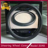 Tampa de roda da direção do couro da fibra dos acessórios do carro da promoção