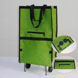 PPの車輪が付いている折る携帯用ショッピングトロリー袋