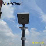 luz de calle solar al aire libre integrada APP del sensor sin hilos del regulador PIR de 6-120W