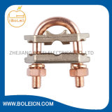 Rod à terra U Bolt Clamp Copper Clamps para Earthing Lightning