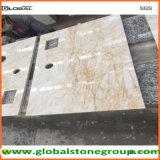Partes superiores de tabela de mármore por atacado para o contratante de pedra da mobília