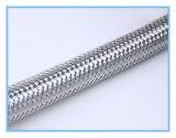 """Manguera flexible de acero inoxidable trenzado con F1 / 2 """"* F1 / 2"""", tubo de goma interior con 304 acero alambre trenzado"""