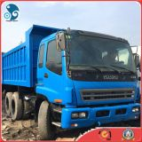정면 Lifting Dumping 전기 Drive Manual Used Isuzu Dump Truck (엔진 Cap>8L)
