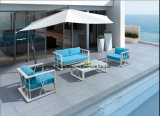 Patio Rattan Sofa Set con Table