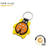 Anello chiave di cuoio animale personalizzato dell'unità di elaborazione di vendita calda (Y02013)