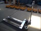 Camion de palette tout neuf de main d'acier inoxydable de 2 tonnes