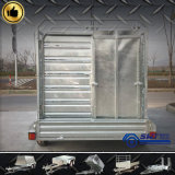Exploração agrícola Galvanized Tandem Cattle Crate Trailer Made em China