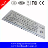Robusto tastiera in acciaio inox Matel con tasti funzione e trackball ottica