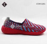 Ботинки спортов вскользь ботинок ткани Weave для повелительницы