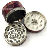 4 Layer Metal Tabacco Grinder Zinc Alloy com Compass Camouflage Smoke Grinder
