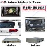 Поверхность стыка навигации автомобиля Android для VW Tiguan, Sharan, навигации касания подъема Passat (MQB), WiFi, Bt, Mirrorlink, HD 1080P, карты Google, игры Stor