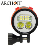 Lampe-torche professionnelle de plongée de commutateur magnétique de l'archonte 5200 LM W43vp